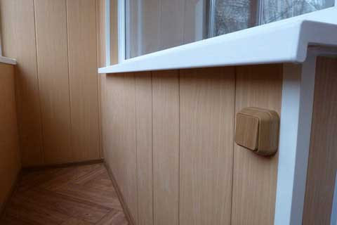 Фото панелей на балконе