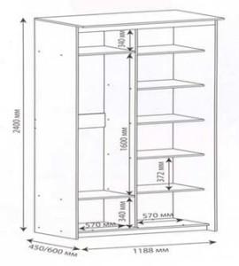 Чертеж шкафа для балкона