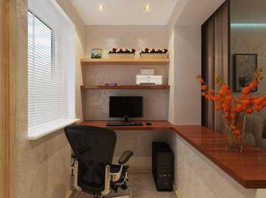 компьютерные столы на балконе фото