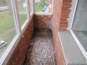 Фото ремонта кирпичного балкона