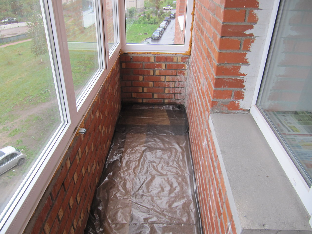 Ремонт кирпичного балкона своими руками