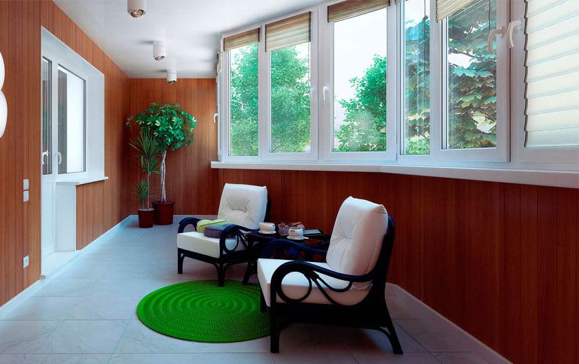 Ремонт балконов в г. Чита : остекление, утепление, отделка.